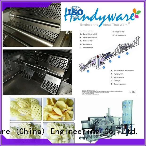 easy to use industrial fryer machine stackable for chips