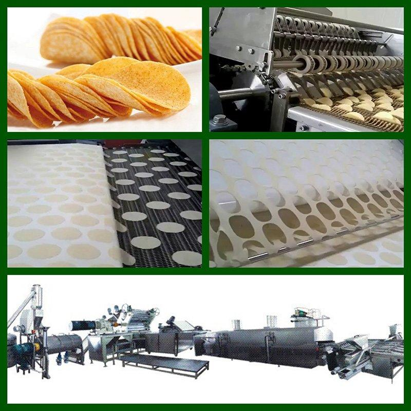 Stackable Machine Fabricated Potato Chips Processing Line