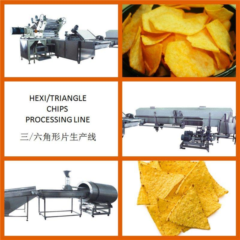 Hexagon Potato Chips Processing Line