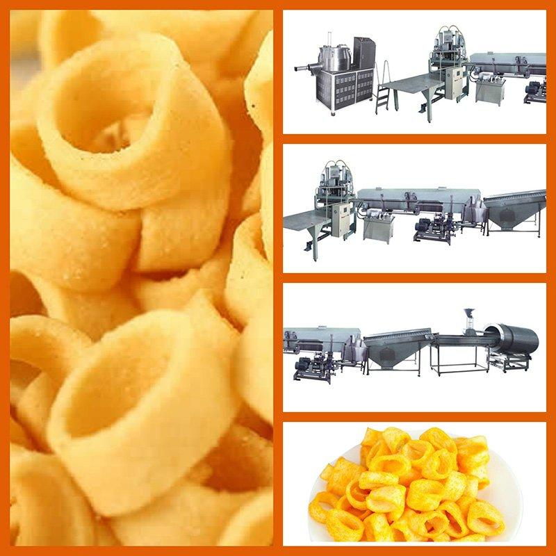 Potato Ring/Stick/Flat Chip Direct Extruder Frying Production Line