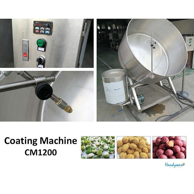 Semi-auto Coating System Peanut Coater Machine For Sale