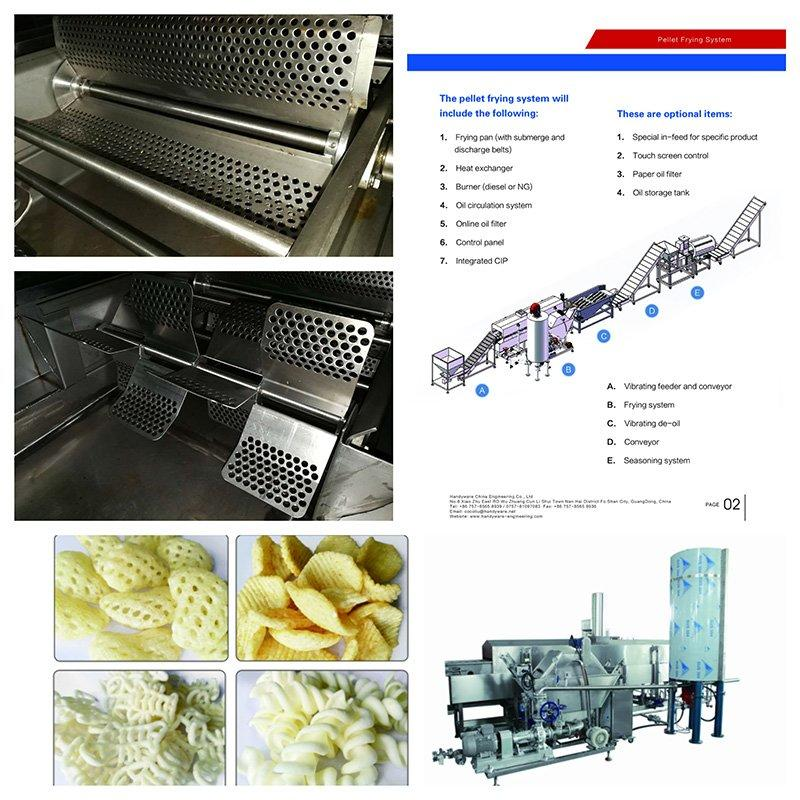 Professional Manufacturer of Snacks Pellets Frying System