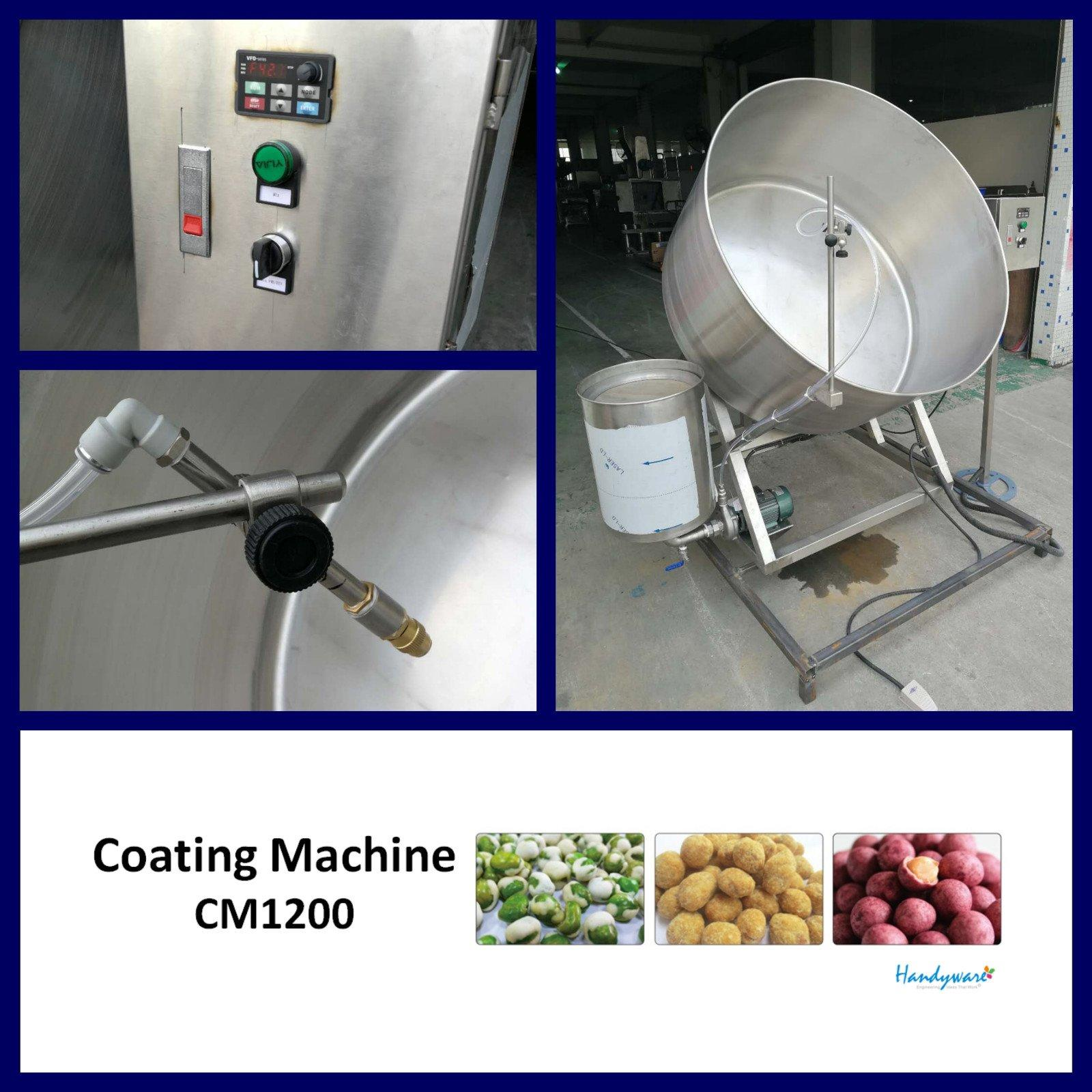 low cost coating machine manufacturer coating factory for food