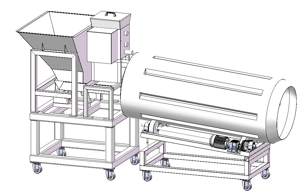 HANDYWARE Brand system coating seasoning seasoning mixer machine