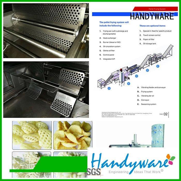 packing fresh HANDYWARE industrial fryer machine