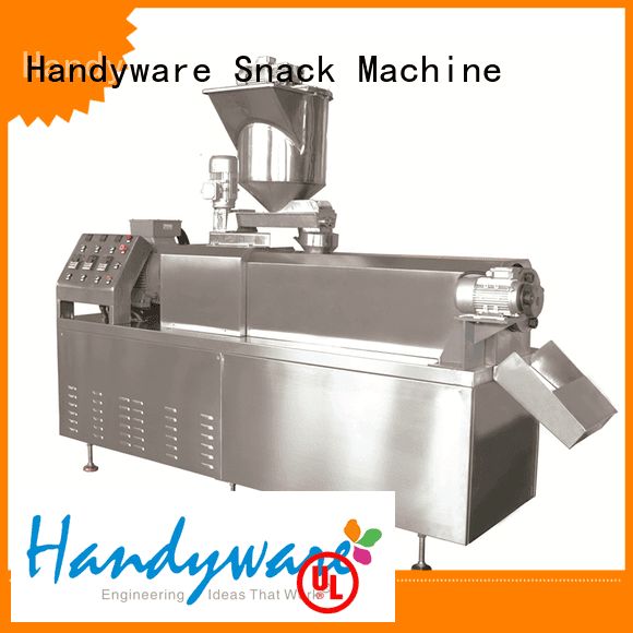HANDYWARE Brand line puffed double screw extruder machine food sale
