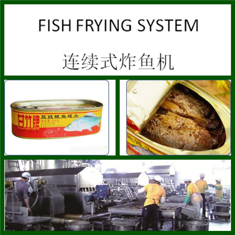 HANDYWARE Automatic Canned Fish Fryer Processing Line with 250-500kgs/hr Frying Systems image1