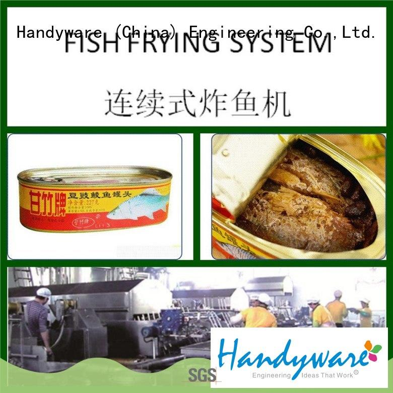 Canned Fish Fryer Continuous Processing Line with 250-500kgs/hr
