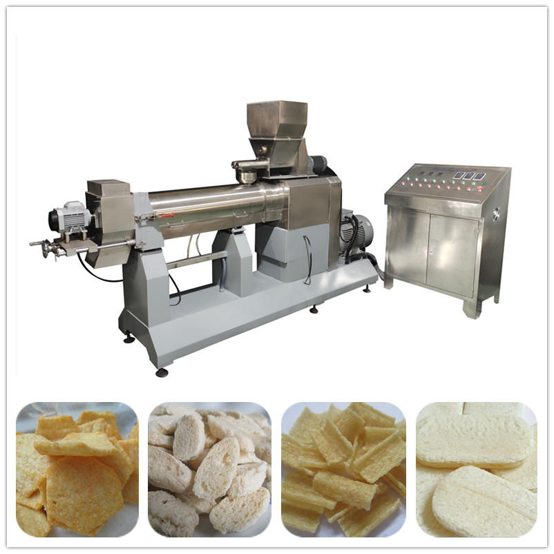 Hexagon cornflakes making machine twin screw extruder